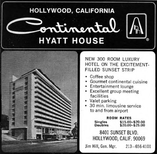 Continental Hyatt House - Hollywood CA