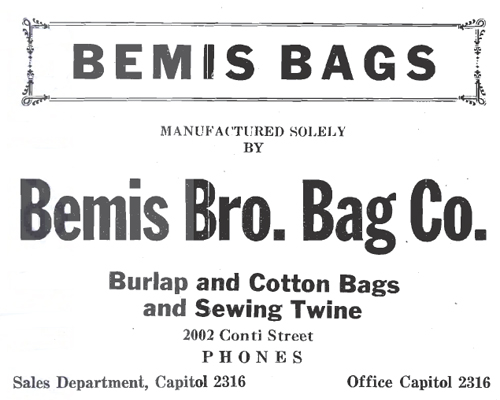 Bemis Bros. Bag Company/Texas Bag & Fibre Co. - Houston TX