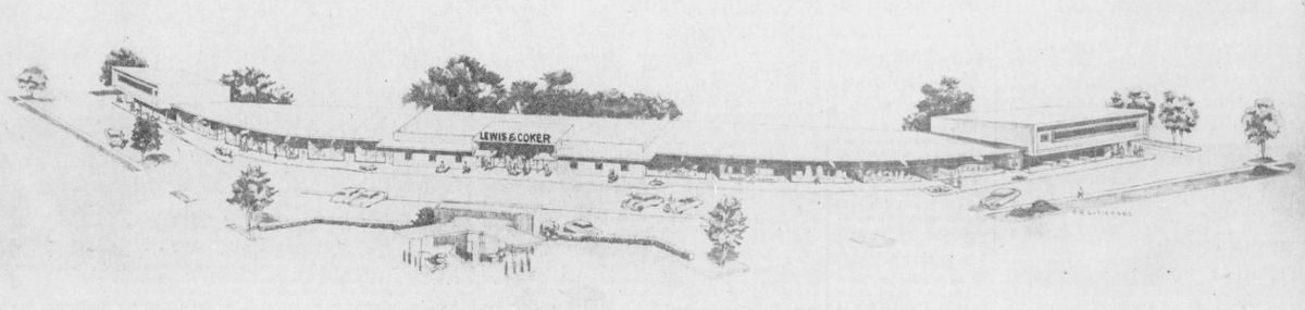 Braeswood Shopping Center rendering - 1950