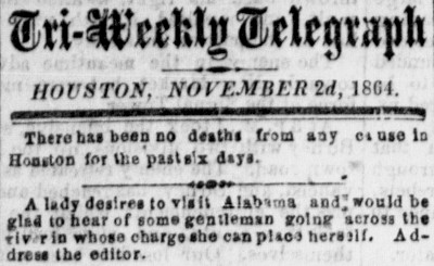 Houston Tri-Weekly Telegraph - November 2, 1864