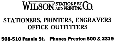 Wilson Stationery and Printing Co. - Houston TX