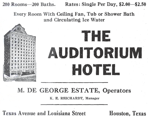 Auditorium Hotel - Houston TX